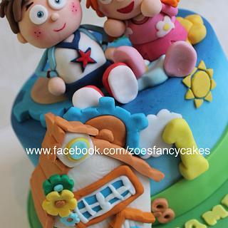Tickety toc children's cake