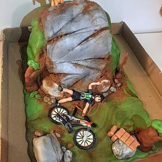 Mountain biking cake - Cake by Coffelover
