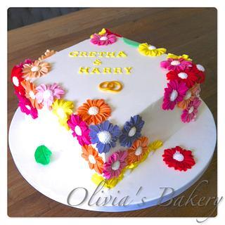 50th wedding anniversary - Cake by Olivia's Bakery