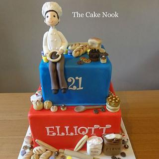 Baker Themed Birthday Cake
