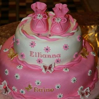 Pink and White Cake