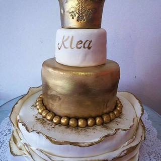 Winter story princes birthday cake