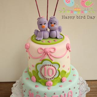 Birdy cake/ Tarta de Pajaritos - Cake by Happy Bird-Day BCN