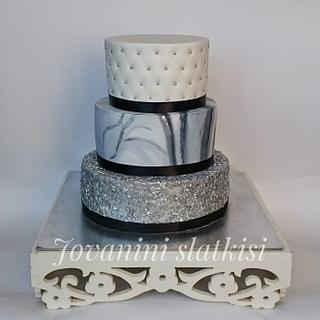 Silver elegant cake