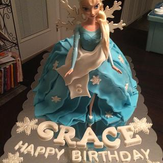 Elsa Cake #2 - Cake by For Heaven's Cakes by Julie