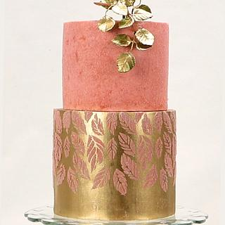 Stenciled Edible Velvet Cake