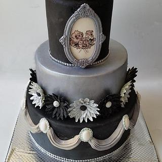 unike elegant wedding cake
