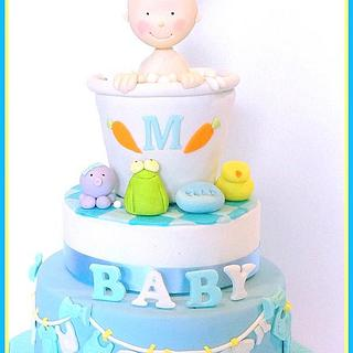 Baby shower Cake!! - Cake by AmberDoesCakes