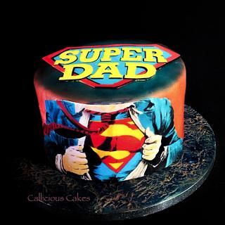 Superdad!!  - Cake by Calli Creations