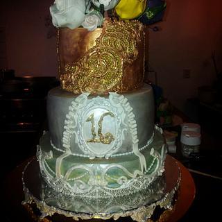Sweet sixteen birthdaycake