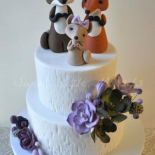 Fox Family Baby Shower Cake