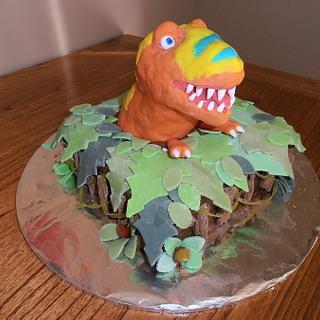 Boris Tyrannosaurus - Cake by Sleaky77