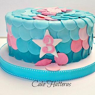 Mermaid Cake and Cupcakes for Adayah
