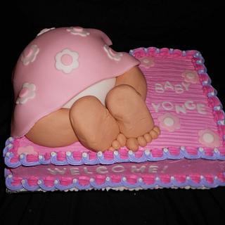 Pink Baby Rump Cake - Cake by caymancake