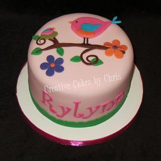Tweet Themed Baby Girl Shower - Cake by Creative Cakes by Chris