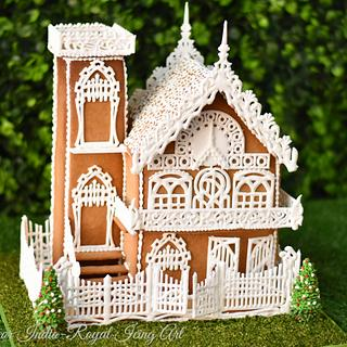 Gingerbread house with Vegan Royal Icing