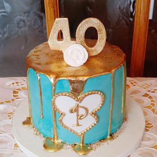 40TH. GOLD DRIP