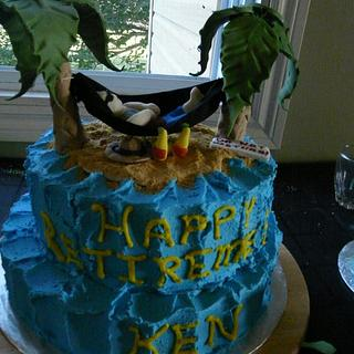 Island Hammock themed Retire/birthday Cake