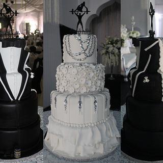 Tuxedo Muscle Wedding Cake