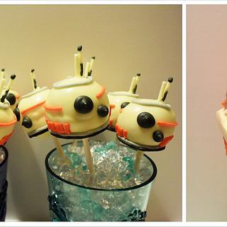 BB8 Star Wars Droid Cakepops