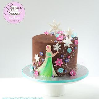 Frozen Fever Ganache Cake
