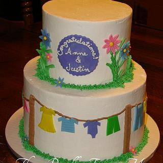 Baby Clothes Shower Cake