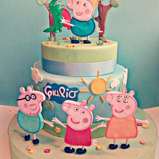 George Pig and family - Cake by Torte decorate di Stefy by Stefania Sanna