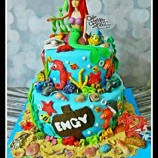 Erail Mermaid cake 🐚🐬🐙🐠🐚🐡