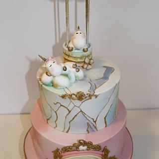 Cute unicorn cake - Cake by Diana Toma