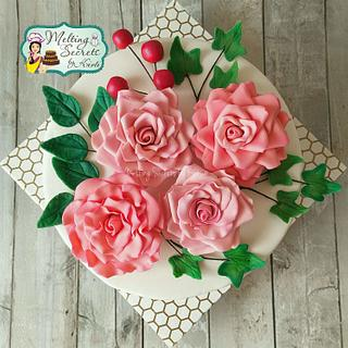#worldcancerday Sugar flowers and Cakes in Bloom Collaboration