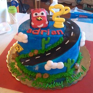 Cars Themed Cake & Cupcakes