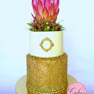 King Protea going for gold.