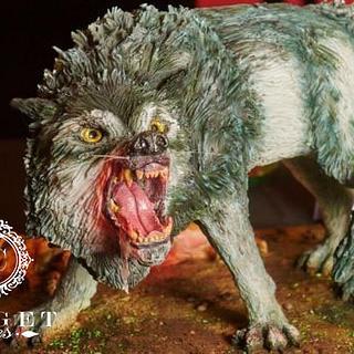 Gold award winning Gory Wolf Cake