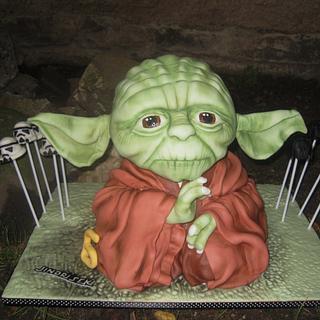 Mr. Yoda - Cake by Eliska