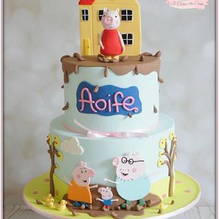 Peppa Pig - Cake by Jo Finlayson (Jo Takes the Cake)