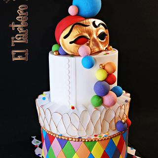 """Arlequín"" cake for Sweet World Carnival Collaboration"