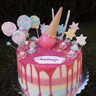 Candy ice cream cake