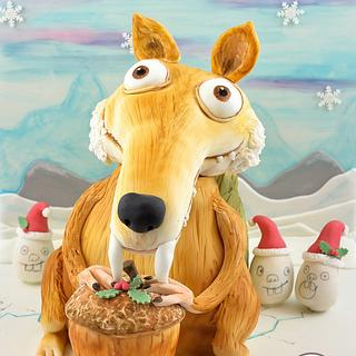Ice Age Scrat~Bake A Christmas Wish