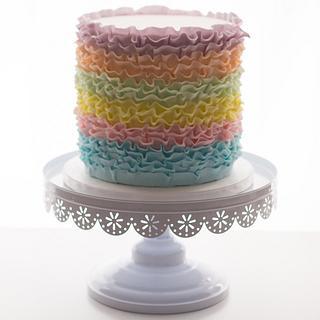 Rainbow Ruffles. - Cake by Jessie lee cakes
