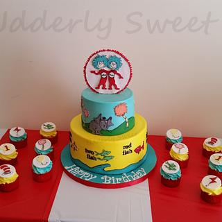 Dr Seuss 1st Birthday For Twins