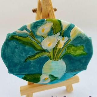 Calla Lilies - Cake by Shannon @ Kitchen Witch Chronicles