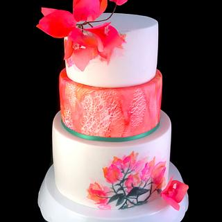 Pink and Orange - Cake by Zoe Byres
