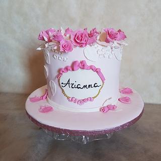 Arianna's baptism cake