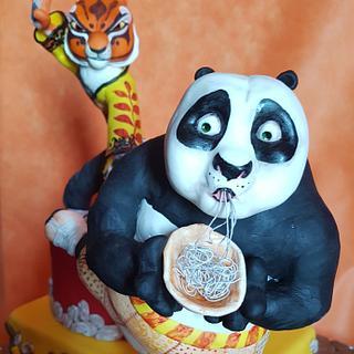 Kung Fu Panda. Po and tigress.