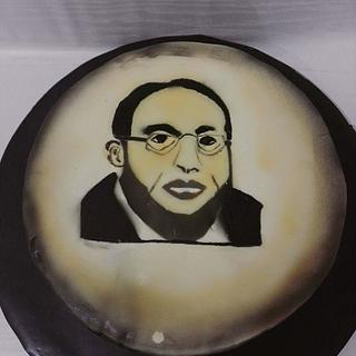 Air brushed cake
