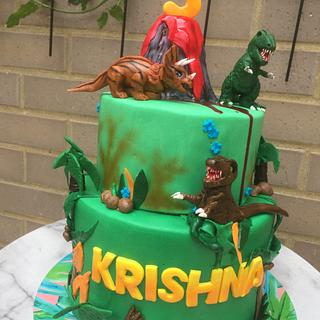 When Dinosaurs attack  - Cake by Cakesters