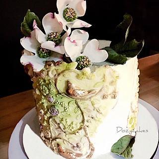 Dogwoods - Cake by Dozycakes