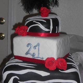 Diva Zebra Cake