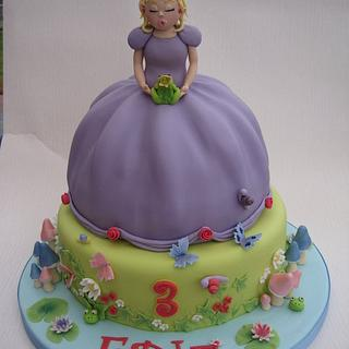 Princess & the Frog - Cake by Deborah Cubbon (the4manxies)