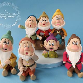 Seven Dwarfs Fondant Figures